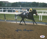 Jean Cruguet Autographed 8x10 Photo Seattle Slew PSA/DNA Stock #19454