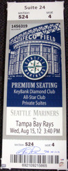 "Felix Hernandez Autographed Mega Ticket Seattle Mariners ""PG 8-15-12"" PSA/DNA Stock #33040"