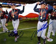 Ichiro Suzuki & Munenori Kawasaki Autographed 8x10 Photo WBC Japan PSA/DNA Stock #39867