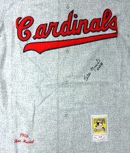 "St. Louis Cardinals Stan Musial Autographed Gray Mitchell & Ness Jersey ""HOF 69"" Size 52 PSA/DNA Stock #45500"