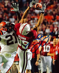 Doug Baldwin Autographed 8x10 Photo Stanford Cardinal MCS Holo Stock #45813