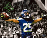 Richard Sherman Autographed 8x10 Photo Seattle Seahawks RS Holo Stock #71535