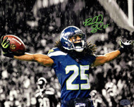 Richard Sherman Autographed 8x10 Photo Seattle Seahawks RS Holo Stock #76087