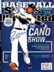 Robinson Cano Autographed Sports Illustrated Magazine Seattle Mariners PSA/DNA ITP Stock #78174