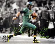 "Marcus Mariota Autographed 16x20 Photo Oregon Ducks ""Heisman '14"" MM Holo Stock #89883"
