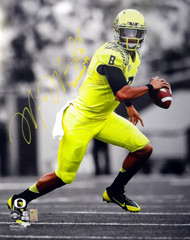 "Marcus Mariota Autographed 16x20 Photo Oregon Ducks ""Heisman '14"" MM Holo Stock #89884"