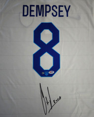 "Team USA Clint Dempsey Autographed White Nike Jersey ""USA"" Size XL PSA/DNA ITP Stock #89897"