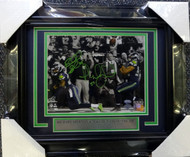 Richard Sherman & Malcolm Smith Autographed Framed 8x10 Photo Seattle Seahawks The Tip MCS Holo Stock #90589