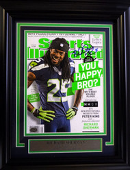 Richard Sherman Autographed Seattle Seahawks Framed Sports Illustrated Magazine RS Holo Stock #90590