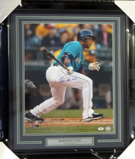 Robinson Cano Autographed Framed 16x20 Photo Seattle Mariners PSA/DNA ITP Stock #94176