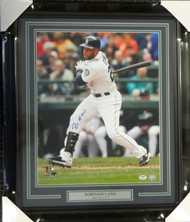 Robinson Cano Autographed Framed 16x20 Photo Seattle Mariners PSA/DNA ITP Stock #94177