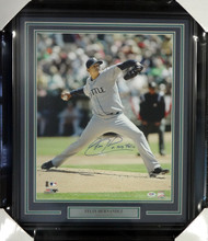 "Felix Hernandez Autographed Framed 16x20 Photo Seattle Mariners ""King Felix"" PSA/DNA Stock #98088"