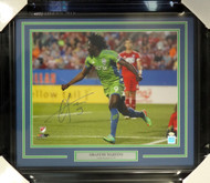 Obafemi Martins Autographed Framed 16x20 Photo Seattle Sounders MCS Holo Stock #98092