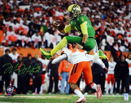 Marcus Mariota Autographed 16x20 Photo Oregon Ducks MM Holo Stock #98165