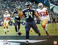 Thomas Rawls Autographed 16x20 Photo Seattle Seahawks MCS Holo Stock #105076