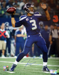 Russell Wilson Autographed 16x20 Photo Seattle Seahawks RW Holo Stock #106943
