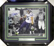 Jermaine Kearse Autographed Framed 16x20 Photo Seattle Seahawks Super Bowl XLVIII MCS Holo Stock #107771