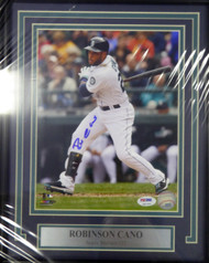 Robinson Cano Autographed Framed 8x10 Photo Seattle Mariners PSA/DNA Stock #107796