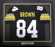 Pittsburgh Steelers Antonio Brown Autographed Framed Black Jersey PSA/DNA Stock #107966