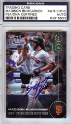Madison Bumgarner Autographed 2016 Topps Now Card #119 San Francisco Giants PSA/DNA Stock #108024