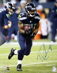 Thomas Rawls Autographed 16x20 Photo Seattle Seahawks MCS Holo Stock #113551