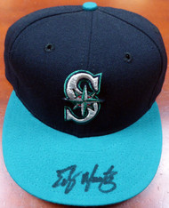 Edgar Martinez Autographed Seattle Mariners New Era Hat MCS Holo Stock #115048