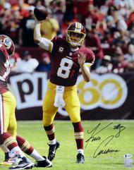 Kirk Cousins Autographed 16x20 Photo Washington Redskins Beckett BAS Stock #115083