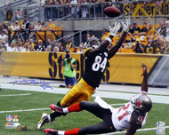 Antonio Brown Autographed 16x20 Photo Pittsburgh Steelers Beckett BAS Stock #121852