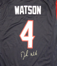 Houston Texans Deshaun Watson Autographed Blue Nike Jersey Size XL Beckett BAS Stock #121900
