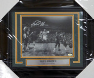 """Downtown"" Fred Brown Autographed Framed 8x10 Photo Seattle Sonics MCS Holo Stock #123676"