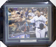 Edgar Martinez Autographed Framed 16x20 Photo Seattle Mariners MCS Holo Stock #123744