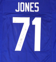 Seattle Seahawks Walter Jones Autographed Blue Jersey MCS Holo Stock #124675
