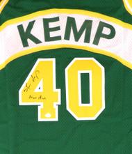 "Seattle Sonics Shawn Kemp Autographed Green Adidas Hardwood Classics Jersey ""Reign Man"" MCS Holo Stock #125205"