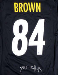 Pittsburgh Steelers Antonio Brown Autographed Black Nike Jersey Size M Beckett BAS Stock #126637