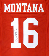 San Francisco 49ers Joe Montana Autographed Red Jersey TriStar Stock #128889