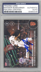 Madison Bumgarner Autographed 2016 Topps Now Card #371 San Francisco Giants PSA/DNA Stock #128988