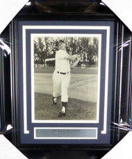 "Mickey Mantle Autographed Framed 8x10 Photo ""My Best Wishes"" Vintage 1950's Signature New York Yankees (Creased) JSA #X74013"