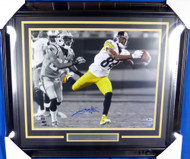 Antonio Brown Autographed Framed 16x20 Photo Pittsburgh Steelers Beckett BAS Stock #130267