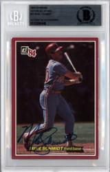 Mike Schmidt Autographed 1984 Donruss Action All Star Card #57 Philadelphia Phillies Beckett BAS #10380448