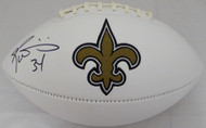 Ricky Williams Autographed New Orleans Saints White Logo Football Beckett BAS Stock #131952