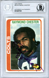 Raymond Chester Autographed 1978 Topps Card #69 Baltimore Colts Beckett BAS #10447330
