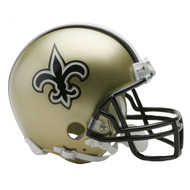 Unsigned New Orleans Saints Mini Helmet For Upcoming Drew Brees Signing on July 22nd