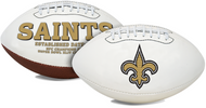 Unsigned New Orleans Saints White Logo Football For Upcoming Drew Brees Signing on July 22nd
