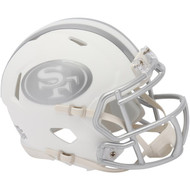 Unsigned San Francisco 49ers White Ice Speed Mini Helmet To Be Signed By Jerry Rice