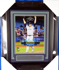 James Paxton Autographed Framed 8x10 Photo Seattle Mariners No Hitter MCS Holo Stock #135263