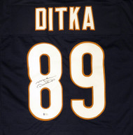 Chicago Bears Mike Ditka Autographed Blue Jersey Beckett BAS Stock #135367