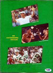Muhammad Ali Autographed Magazine Page Photo PSA/DNA #E47098