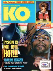 Mike Tyson Autographed KO Boxing Magazine Cover Vintage PSA/DNA #Q65506