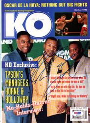 Mike Tyson Autographed KO Boxing Magazine Cover Vintage PSA/DNA #Q65522