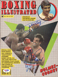 Alexis Arguello & Gerry Cooney Autographed Boxing Illustrated Magazine Cover PSA/DNA #Q95657